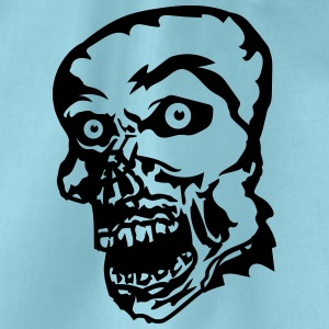 zombie face head undead horror monster halloween T-Shirts - Drawstring Bag