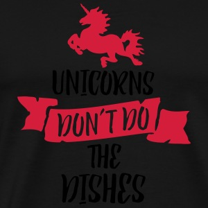 Unicorns Don't Do The Dishes 2C - Männer Premium T-Shirt