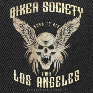 SSD Biker Society Los Angeles 1983 Skull Wings - RAHMENLOS Motorcycle Design Baby Bodys - Snapback Cap