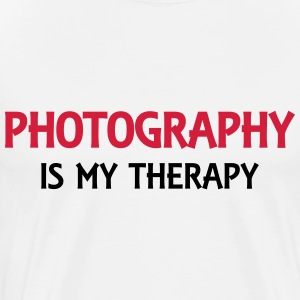 Photography is my therapy Langarmshirts - Männer Premium T-Shirt
