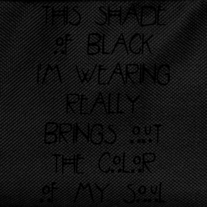 This shade of black im wearing really brings out T-Shirts - Kids' Backpack