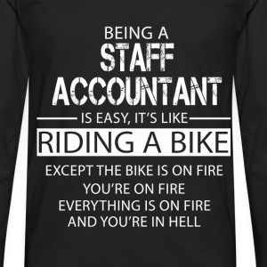 Staff Accountant T-Shirts - Men's Premium Longsleeve Shirt