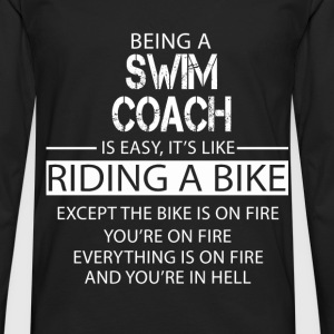Swim Coach T-Shirts - Men's Premium Longsleeve Shirt
