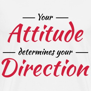 Your attitude determines your direction Manches longues - T-shirt Premium Homme