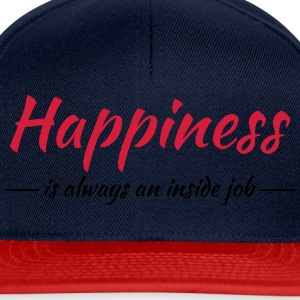 Happiness is always an inside job Sportsbeklædning - Snapback Cap