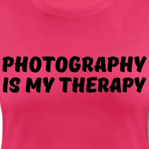 Photography is my therapy Sports wear - Women's Breathable T-Shirt