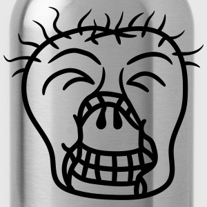 head, face, happy undead monster halloween horror  T-Shirts - Water Bottle