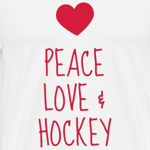 Hockey - Cross - Eishockey - Skater - Ice Hockey  Aprons - Men's Premium T-Shirt