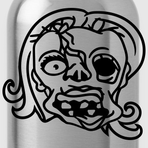 face head undead run disgusting woman girl sexy la T-Shirts - Water Bottle