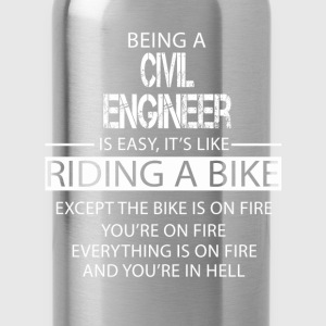 Civil Engineer T-Shirts - Water Bottle