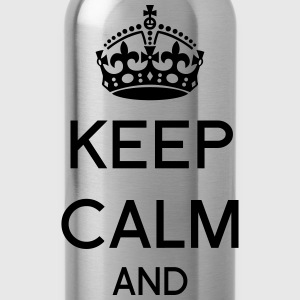 Customizable Keep calm T-Shirts - Water Bottle