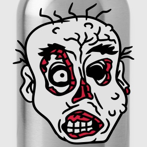 face head evil disgusting monster horror halloween T-Shirts - Water Bottle