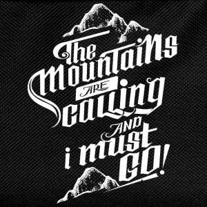 The Mountains Are Calling And I Must Go! T-shirts - Rygsæk til børn