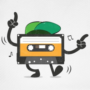 Dancing Cassette Tape (Vintage Style) T-Shirts - Baseball Cap