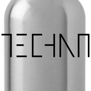 Techno Music Minimal Electro Rave Shuffel Festival Tops - Trinkflasche