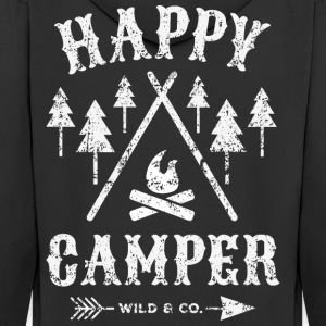 Happy Camper distressed T-Shirt - Männer Premium Kapuzenjacke