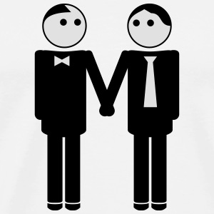 gay couple / gay couple hand in hand 2c Sportbekleidung - Männer Premium T-Shirt