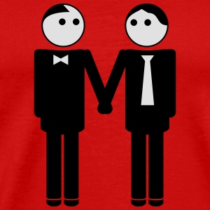 gay couple / gay couple hand in hand 2c Sports wear - Men's Premium T-Shirt