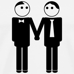 gay couple / gay couple hand in hand 1c Sportbekleidung - Männer Premium T-Shirt