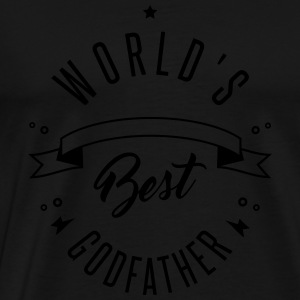 WORLD'S BEST GODFATHER Sweatshirts - Herre premium T-shirt