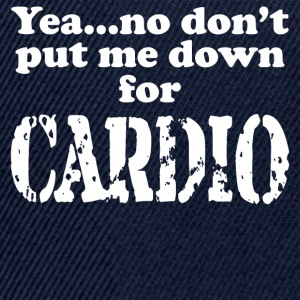 No to Cardio - Snapback Cap