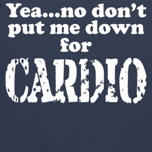 No to Cardio - Men's Premium Tank Top