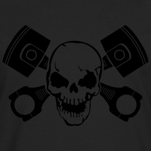 Skull with engine pistons T-Shirts - Men's Premium Longsleeve Shirt