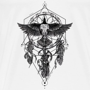 AD Skull Crow Dreamcatcher Mystic Bags & Backpacks - Men's Premium T-Shirt