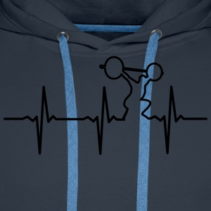 Heartbeat Gym T-Shirts - Men's Premium Hoodie