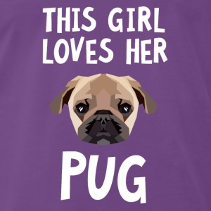 This Girl Loves Her Pug Sweatshirts - Herre premium T-shirt