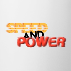 Speed and Power Motion, bold font text T-Shirts - Mug