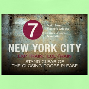 NYC subway stand clear of the closing doors please - Baby T-Shirt