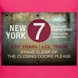 NYC subway stand clear of the closing doors please - Frauen Bio-T-Shirt