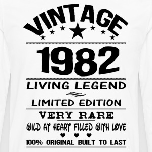 VINTAGE 1982-LIVING LEGEND T-Shirts - Men's Premium Longsleeve Shirt