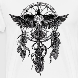 AD Skull Crow Dreamcatcher Long sleeve shirts - Men's Premium T-Shirt