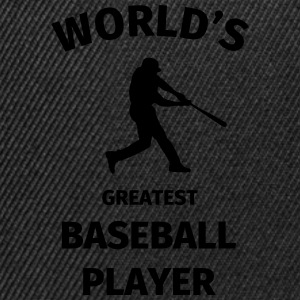 World's Greatest Baseball Player Tee shirts - Casquette snapback