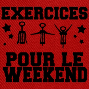 exercices pour le weekend Tee shirts - Casquette snapback