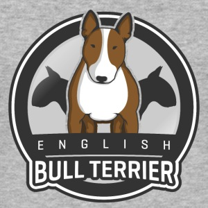 English Bull Terrier Front Pullover & Hoodies - Männer Slim Fit T-Shirt