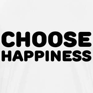 Choose happiness Langarmshirts - Männer Premium T-Shirt