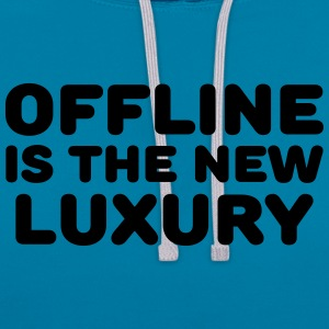 Offline is the new luxury T-Shirts - Contrast Colour Hoodie