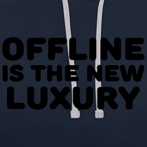 Offline is the new luxury Sportbekleidung - Kontrast-Hoodie