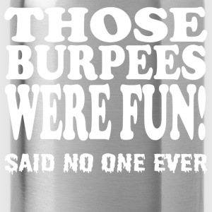 Urban Gubbins Burpees 004 - Water Bottle
