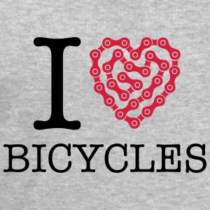 I Love Bicycles T-Shirts - Men's Sweatshirt by Stanley & Stella