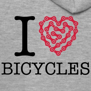 I Love Bicycles T-Shirts - Men's Premium Hooded Jacket
