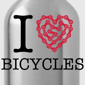 I Love Bicycles T-shirts - Vattenflaska