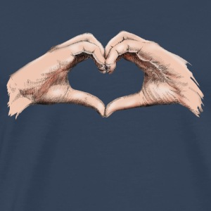 Hands heart Topper - Premium T-skjorte for menn