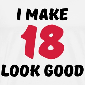I make 18 look good Long sleeve shirts - Men's Premium T-Shirt