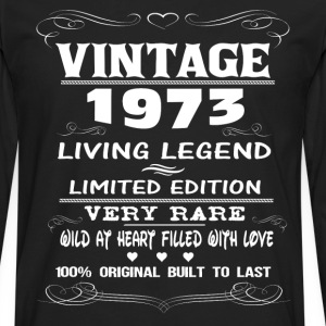 VINTAGE 1973-LIVING LEGEND T-Shirts - Men's Premium Longsleeve Shirt