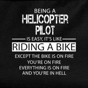 Helicopter Pilot T-Shirts - Kids' Backpack