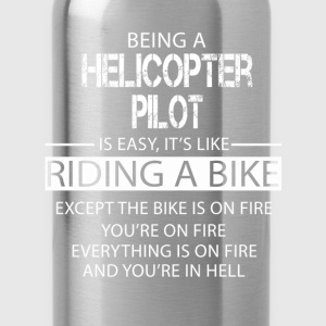 Helicopter Pilot T-Shirts - Water Bottle
